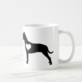 アメリカのピット・ブルテリアのハートのマグ コーヒーマグカップ
