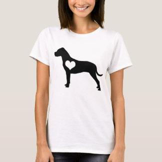 アメリカのピット・ブルテリアのハートのTシャツ Tシャツ