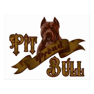 アメリカのピット・ブルテリア犬 ポストカード