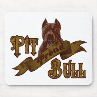 アメリカのピット・ブルテリア犬 マウスパッド