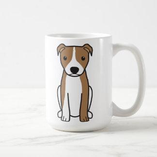 アメリカのピット・ブルテリア(自然な耳) コーヒーマグカップ