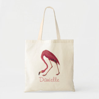 アメリカのピンクのフラミンゴのAudubonのヴィンテージの鳥の芸術 トートバッグ