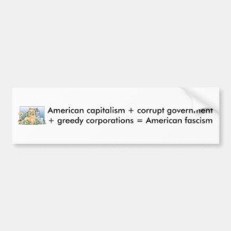 アメリカのファシズム バンパーステッカー