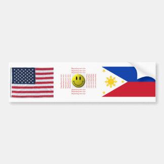 アメリカのフィリピン人 バンパーステッカー