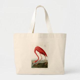 アメリカのフラミンゴのジョンアメリカのAudubonの鳥 ラージトートバッグ
