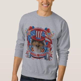 アメリカのプライドのシェットランド・シープドッグ スウェットシャツ