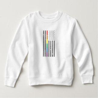 アメリカのプライドの旗の幼児のスエットシャツ スウェットシャツ