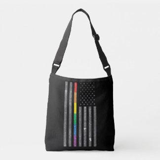 アメリカのプライドの旗の暗い吊り鎖のバッグ クロスボディバッグ