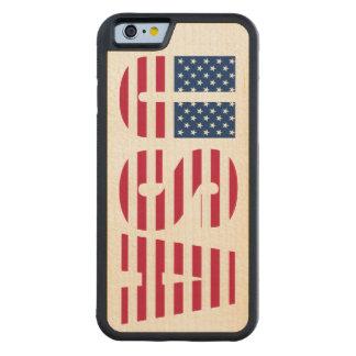 アメリカのプライド米国の星条旗 CarvedメープルiPhone 6バンパーケース