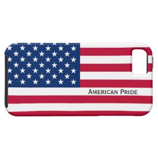 アメリカのプライド米国の米国旗の赤白青 iPhone SE/5/5s ケース