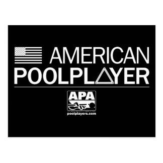 アメリカのプールプレーヤー ポストカード