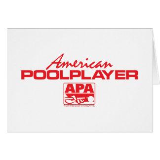 アメリカのプールプレーヤー-赤 カード