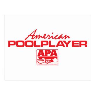 アメリカのプールプレーヤー-赤 ポストカード