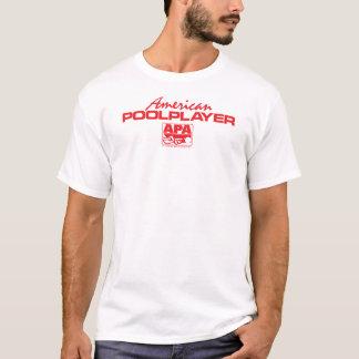 アメリカのプールプレーヤー-赤 Tシャツ