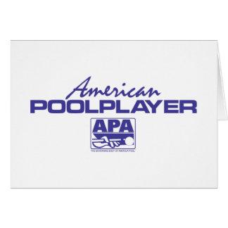 アメリカのプールプレーヤー-青 カード