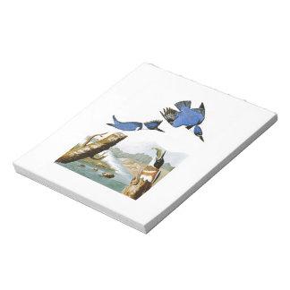 アメリカのベルトを付けられたカワセミのジョンAudubonの鳥 ノートパッド