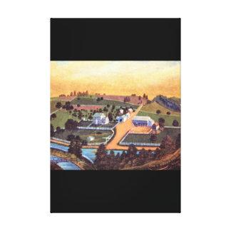 アメリカのベンジャーミンReber Farm_Art キャンバスプリント