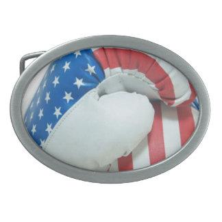 アメリカのボクシンググラブのベルトの留め金 卵形バックル