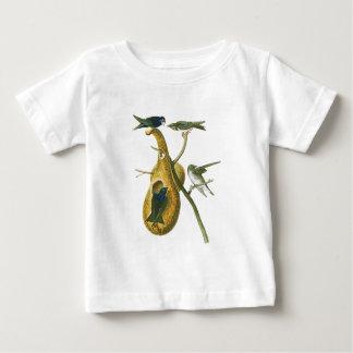 アメリカのムラサキツバメジョン・ジェームズ・オーデュボンの鳥 ベビーTシャツ