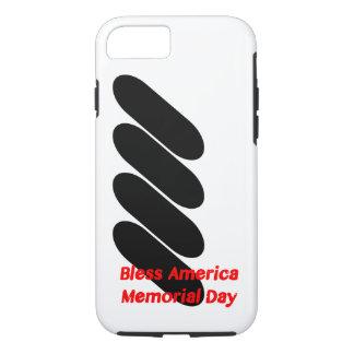アメリカのメモリアルデーの場合を賛美して下さい iPhone 8/7ケース