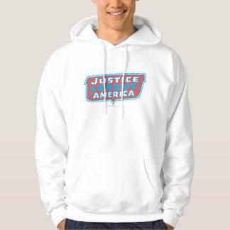 アメリカのロゴのジャスティス・リーグ パーカ