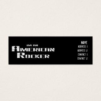 アメリカのロッカーのプロフィールカード スキニー名刺
