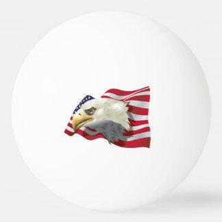 アメリカのワシの旗のピンポン球 卓球ボール