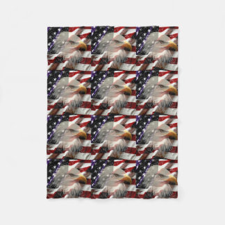 アメリカのワシの旗のフリースブランケット フリースブランケット