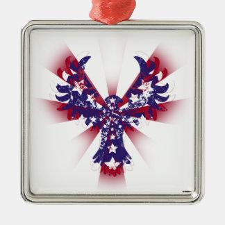 アメリカのワシの星は及び縞で飾ります メタルオーナメント