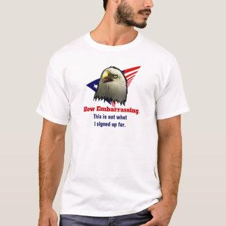 アメリカのワシの米国旗は当惑するいかに言います Tシャツ