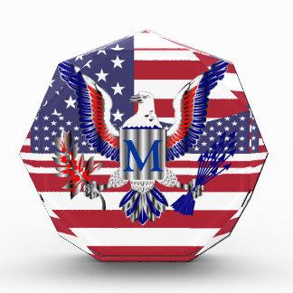 アメリカのワシの記号および旗 表彰盾