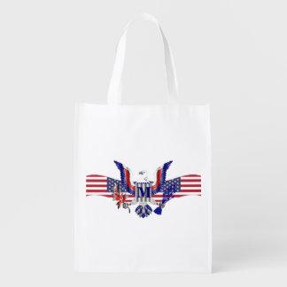 アメリカのワシの記号 エコバッグ
