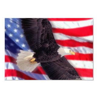 アメリカのワシ及び旗の招待状 カード