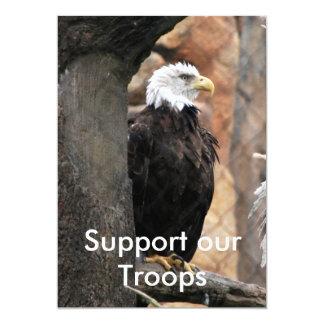 アメリカのワシ、軍隊を支援 カード