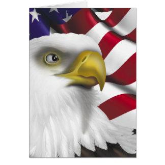 アメリカのワシnの旗 カード