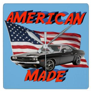 アメリカの伝説 スクエア壁時計