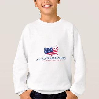 アメリカの例外的なロゴ スウェットシャツ