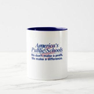 アメリカの公立学校は相違のマグを作ります ツートーンマグカップ