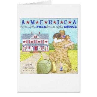 アメリカの兵士のサンキューカード カード