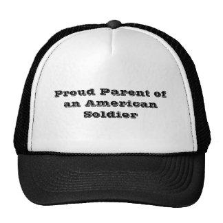 アメリカの兵士の誇り高い親 トラッカー帽子