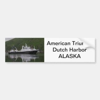 アメリカの勝利、工場トロール船 バンパーステッカー