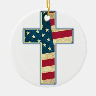 アメリカの十字#2 セラミックオーナメント