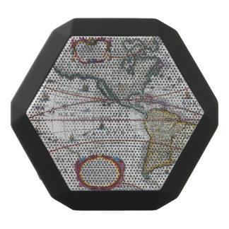 アメリカの古い地図 ブラックBluetoothスピーカー