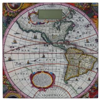 アメリカの古い地図 体重計