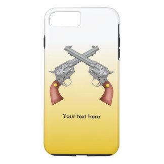 アメリカの古い西リボルバーはヴィンテージを交差させました iPhone 8 PLUS/7 PLUSケース