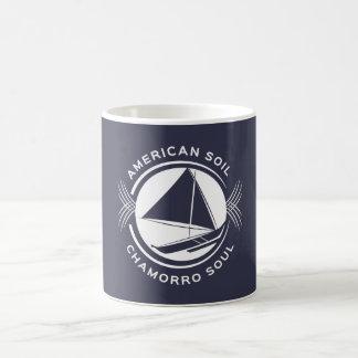 アメリカの土、Chamorroの精神のコーヒー・マグ コーヒーマグカップ