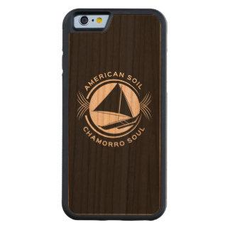 アメリカの土、Chamorroの精神の木製のiPhoneの場合 CarvedチェリーiPhone 6バンパーケース