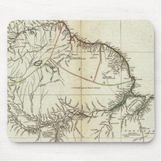 アメリカの地図によって刻まれる北セクション マウスパッド