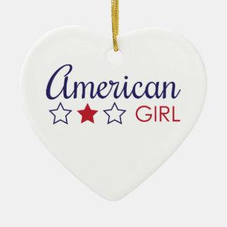 アメリカの女の子の星 セラミックオーナメント