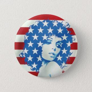 アメリカの女性 缶バッジ